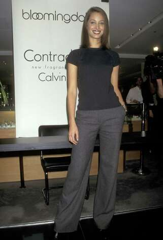 "Christy Turlington launches Calvin Klein's fragrance ""Contradiction"" in 1997.  Photo: Ron Galella, WireImage / Ron Galella Collection"