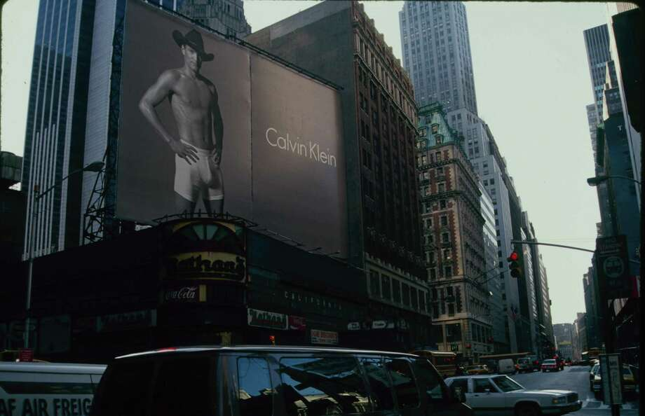 Guess which actor posed in his Calvins for this 1993 billboard? Photo: Time & Life Pictures, Time Life Pictures/Getty Images / Time & Life Pictures