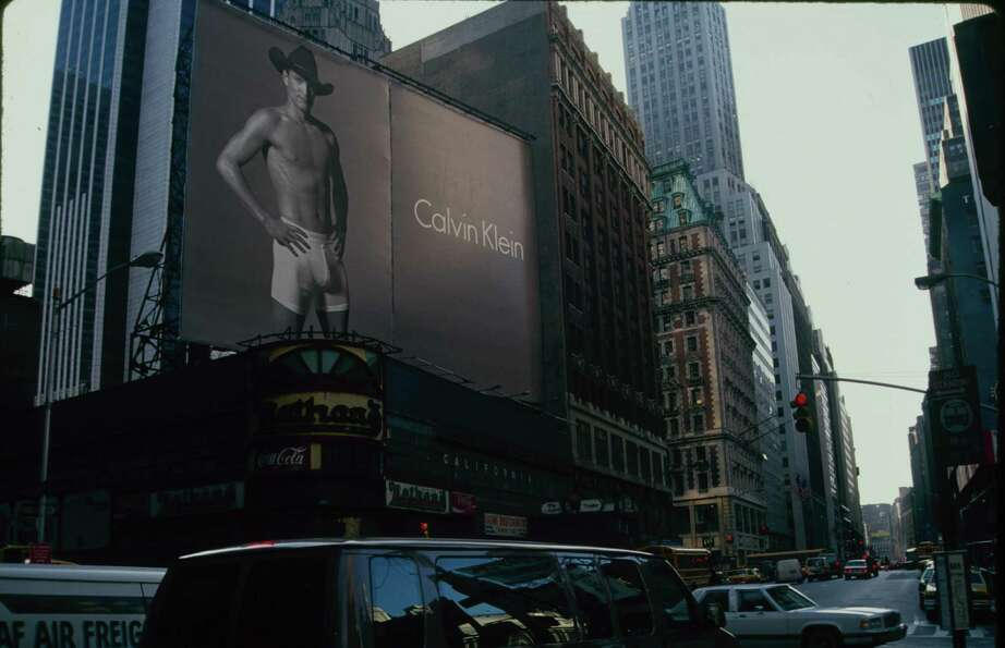 Guess which actor posed in his Calvins for this 1993 billboard?