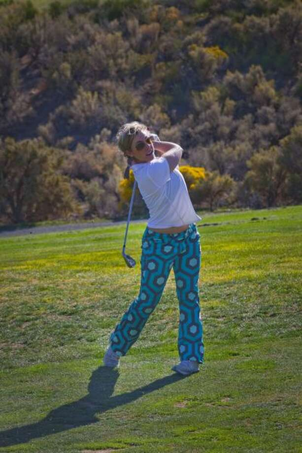 Dina Kupfer's pants at Empire Ranch came close to inducing epilepsy. (Ted Johnson / Courtesy)
