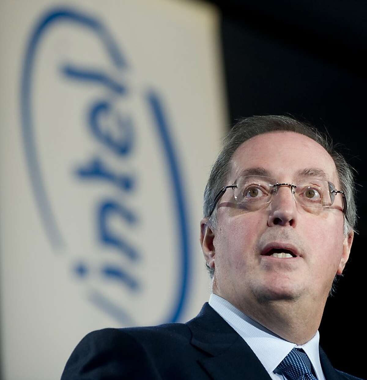 (FILES)Intel CEO Paul Otellini introduces US President Barack Obama before he speaks about advancing education for US students to compete on the international stage after touring a manufacturing facility at Intel in Hillsboro, Oregon, in this February 18, 2011 file photo. Intel Corp. announced November 19, 2012 that Otellini would retire in May, and that a search for a new CEO was underway. AFP PHOTO / Saul LOEB / FILESSAUL LOEB/AFP/Getty Images