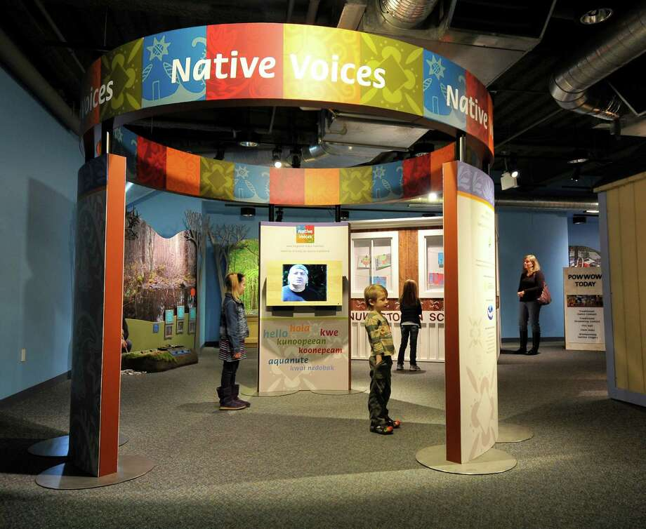 """Native Voices: New England Tribal Families"" is on display at Norwalk, Conn.'s Stepping Stones Museum for Children. This traveling exhibition, which originated at the Boston Children's Museum, will run through January. Visitors will get a chance to see how native communities throughout New England are balancing tradition with modern-day culture. For more information, visit http://www.steppingstonesmuseum.org. Contributed photo/Clive A. Grainger Photo: Contributed Photo / Stamford Advocate Contributed"