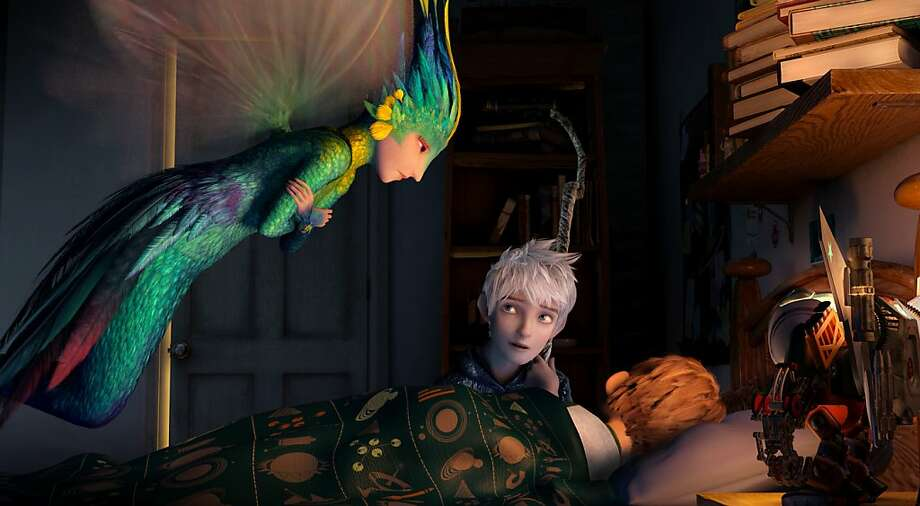 "Tooth (left) and Jack Frost are among the guardians who watch out for children in ""Rise of the Guardians."" Photo: DreamWorks Animation"