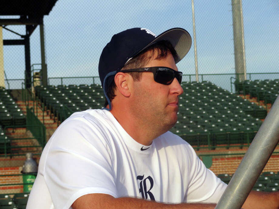 Lance Berkman watches Rice players in his role as a volunteer assistant coach Monday. Photo: Joseph Duarte/Chronicle