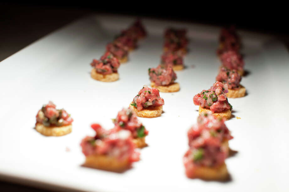 Steak tartare from Press. Photo: Jason Henry, Special To The Chronicle / ONLINE_YES