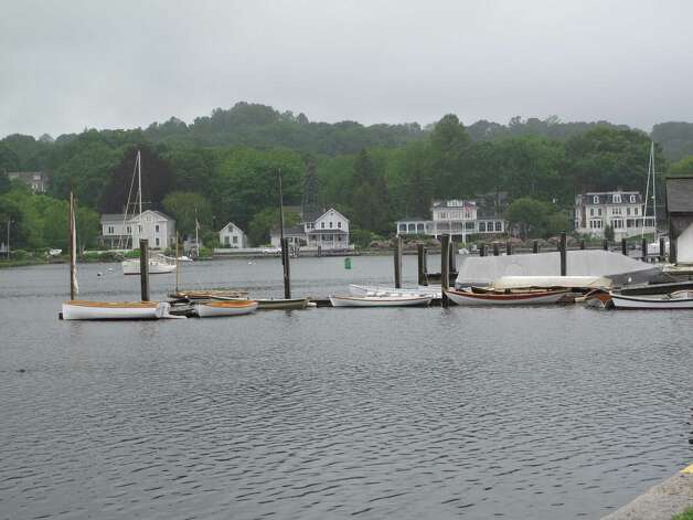 Small boats line the dock in Mystic, Conn. Photo: Courtesy Photo