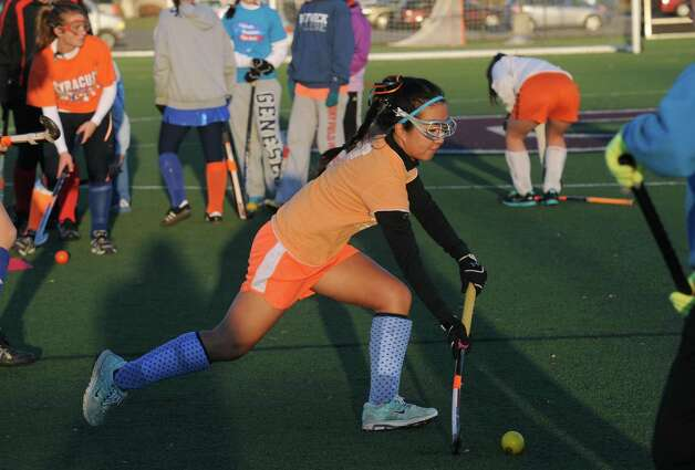 Niskayuna High School field hockey player Alexa Angerami in Schenectady, NY Friday Nov. 16, 2012. (Michael P. Farrell/Times Union) Photo: Michael P. Farrell