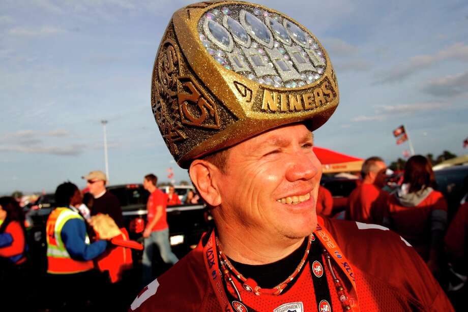 49er Mark sports a Super Bowl ring hat before the San Francisco 49ers game against the Chicago Bears at Candlestick Park in San Francisco, Calif., on Sunday November 19, 2012. Photo: Brant Ward, The Chronicle / ONLINE_YES