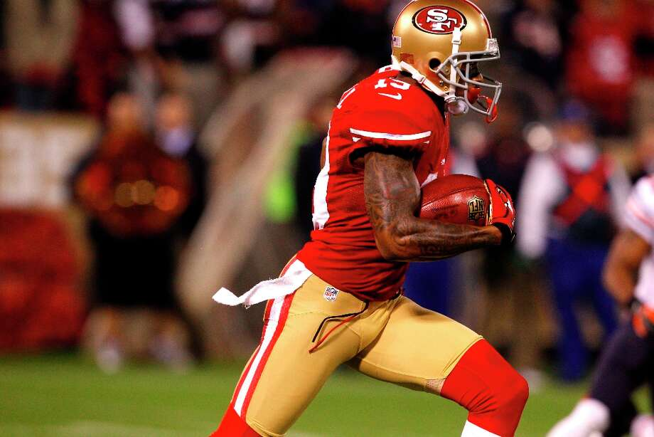 Wide receiver Ted Ginn Jr. (19) during the first quarter of the San Francisco 49ers game against the Chicago Bears at Candlestick Park in San Francisco, Calif., on Monday November 19, 2012. Photo: Carlos Avila Gonzalez, The Chronicle / ONLINE_YES