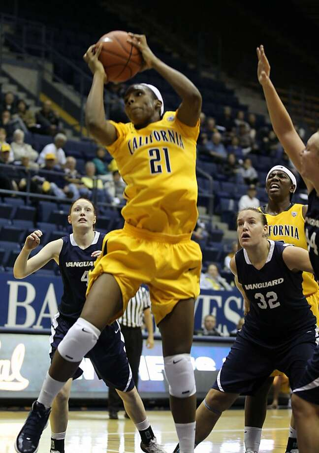 California's Reshanda Gray gets a Cal rebound during their game with the visiting Vanguard Lions, 99-58, in a preseason exhibition game. The Bears are looking to return to the top-25 for the first time since the 2009-10 Thursday November 3, 2011 Photo: Lance Iversen, The Chronicle