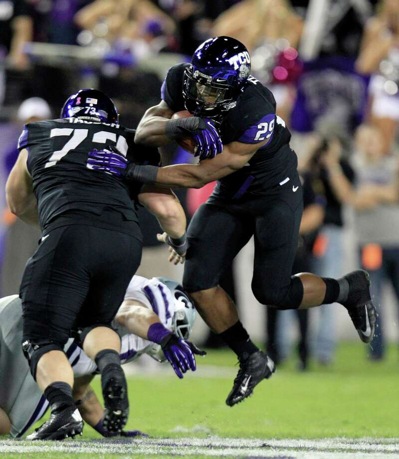 TCU running back Matthew Tucker. TCU (6-4, 3-4 Big 12) was off last week and lost to Kansas State the week before. TCU plays on the road Thursday against Texas. Photo: LM Otero, Wires / AP
