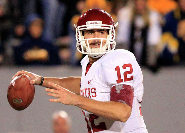 Oklahoma quarterback Landry Jones. Oklahoma (8-2, 6-1 Big 12) is coming off a road victory over West Virginia. Oklahoma plays at home Saturday against rival Oklahoma State. Photo: Christopher Jackson, Wires / FRE 170573 AP