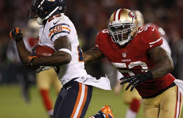 The 49ers selected linebacker NaVorro Bowman (No. 53) in the third round in 2010. He was All-Pro last season. Photo: Carlos Avila Gonzalez, The Chronicle