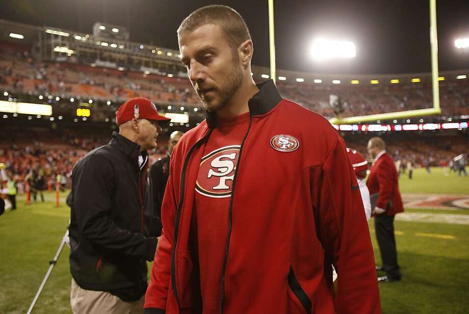 San Francisco 49ers quarterback Alex Smith leaves the field after a 32-7 win over the Chicago Bears at Candlestick Park in San Francisco, Calif. on Monday, Nov. 19, 2012 Photo: Stephen Lam, Special To The Chronicle
