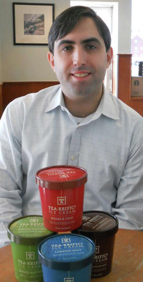 Mario Leite is the owner of Tea-Rrific, a line of all-natural, tea-based ice creams that is made in Norwalk and sold at outlets in Fairfield and Westport. Photo: Patti Woods / Fairfield Citizen contributed