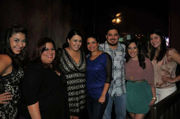Karla Aguirre, Rony Garza, Krystle Garza, Nora E. Moreno, Eddies Garza Jr., Lori Sauceda, and Adelita Guerrero are celebrating a birthday at The Brooklynite.