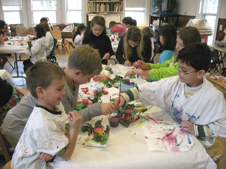 Kids enjoy holiday themed arts and crafts during last year's Holiday Workshop at the Rowayton Arts Center. The next workshop will take place Dec.8. Photo: Contributed Photo