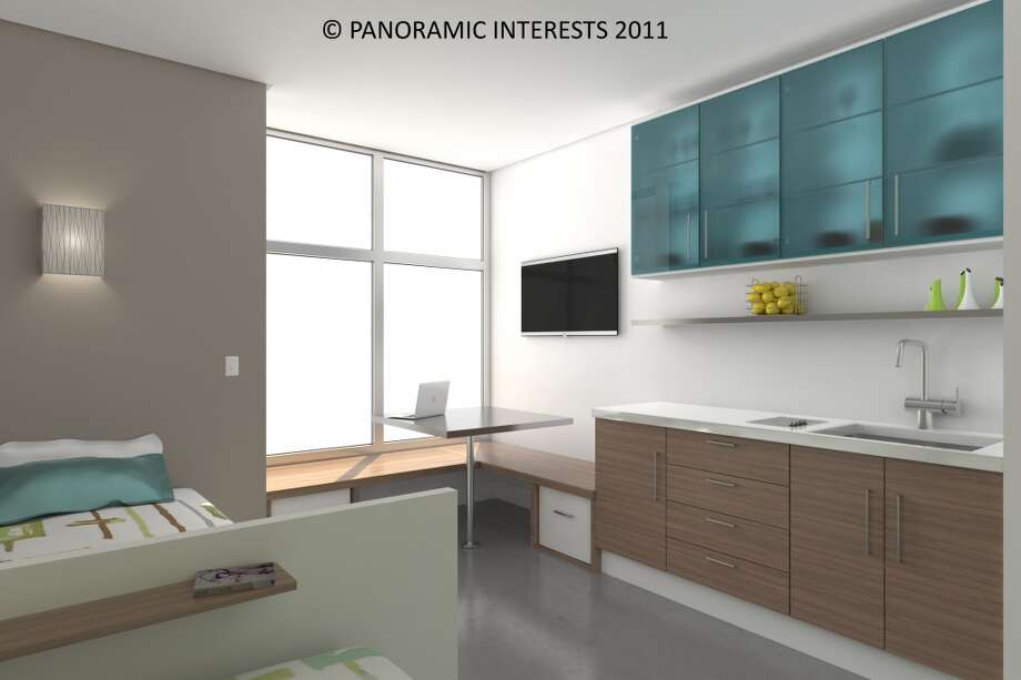 You would be sleeping directly across from your kitchen sink. (SMARTSPACE)