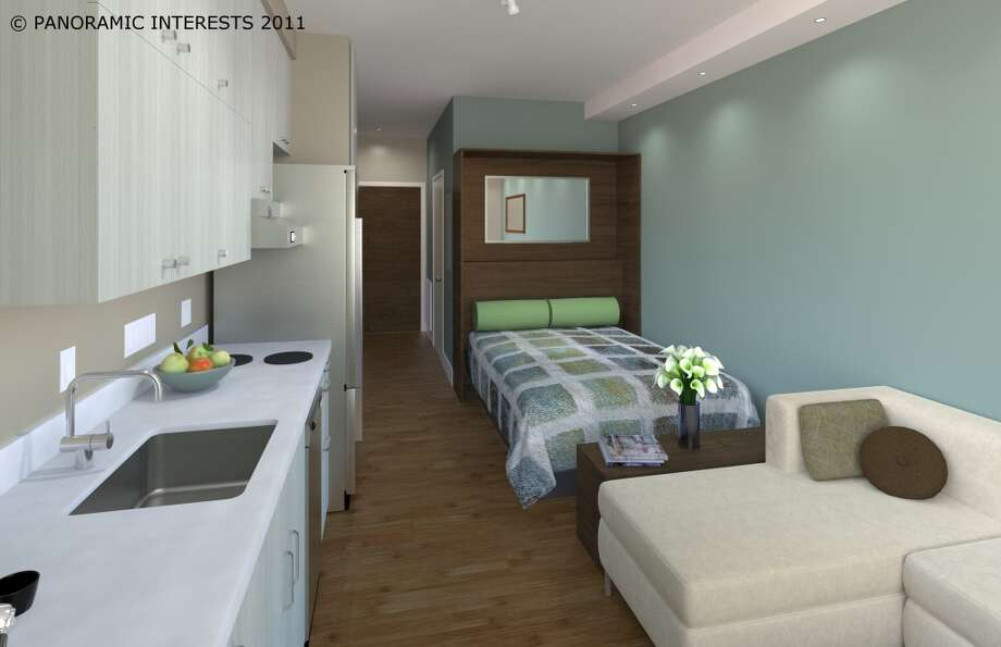 The queen bed option. (SMARTSPACE)