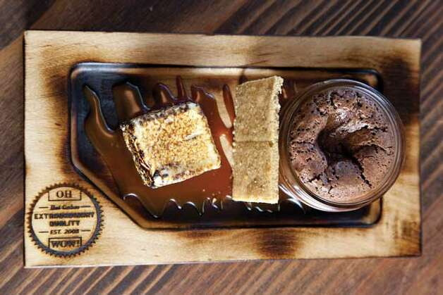 Best New Desserts: Hot Cakes Molten Chocolate Cakery. Hot Cakes' swoonworthy s'mores dish: a smoked chocolate hot cake, homemade 'mallow and trimmings. For the full review, visit Seattle Magazine. (Christine Cox) Photo: Christine A Cox, Seattle Magazine