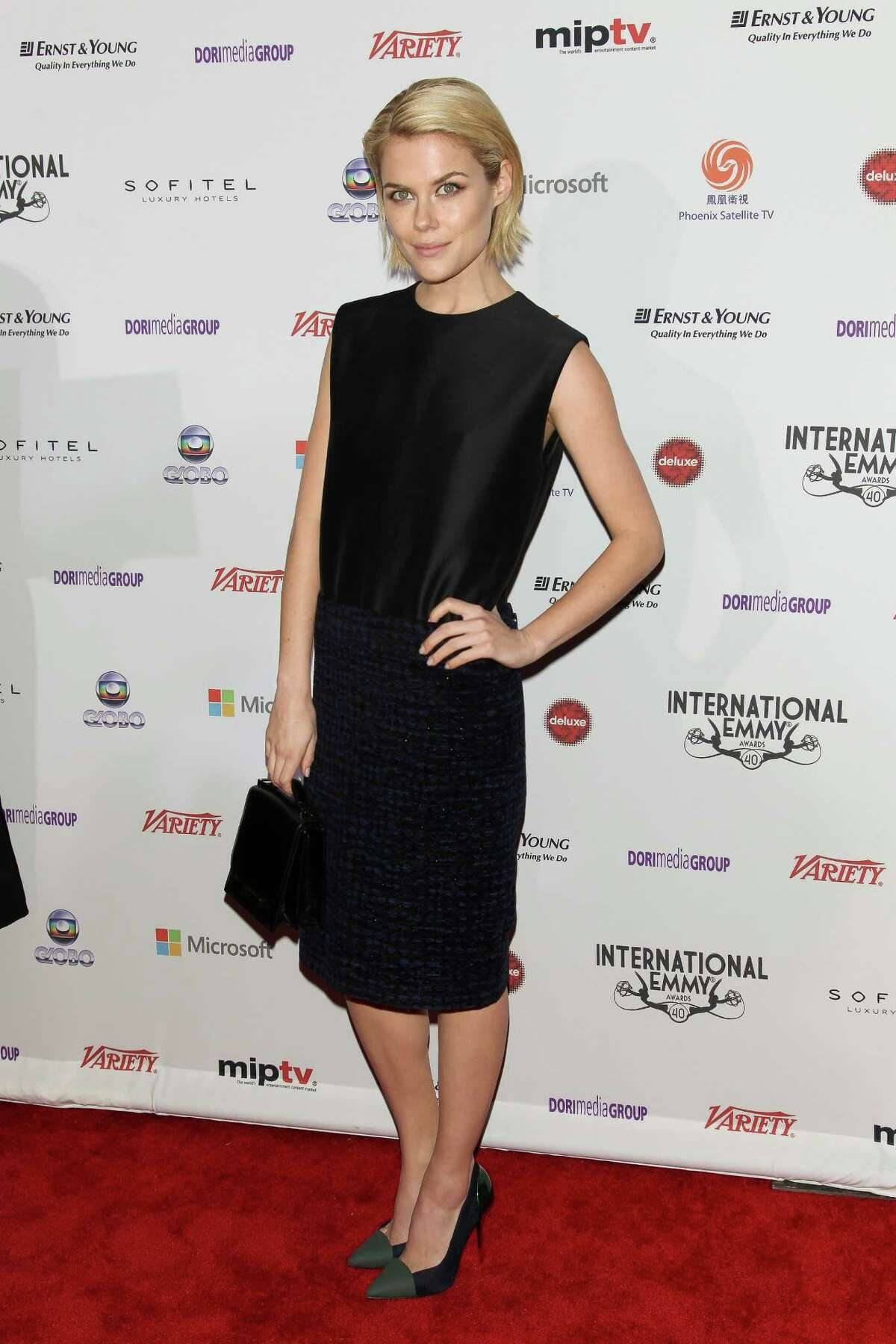 This Nov. 19, 2012 photo released by Starpix shows Australian actress Rachael Taylor at the 40th International Emmy Awards in New York.