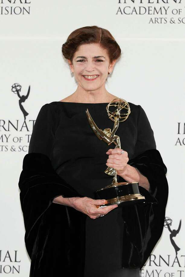 "This Nov. 19, 2012 photo released by Starpix shows Argentine actress Cristina Banegas after winning the Best Performance by an Actress award for her role in the miniseries ""Television por la Inclusion,"" at the 40th International Emmy Awards in New York. Photo: Andrew Toth, AP / STARPIX"