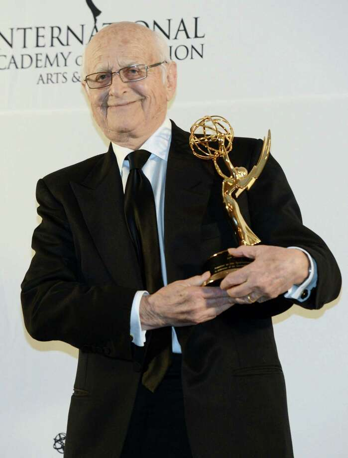 Norman Lear poses after winning a Special Founders Award at the 40th International Emmy Awards,  Monday, Nov. 19, 2012 in New York. Photo: Henny Ray Abrams, AP / FR151332 AP