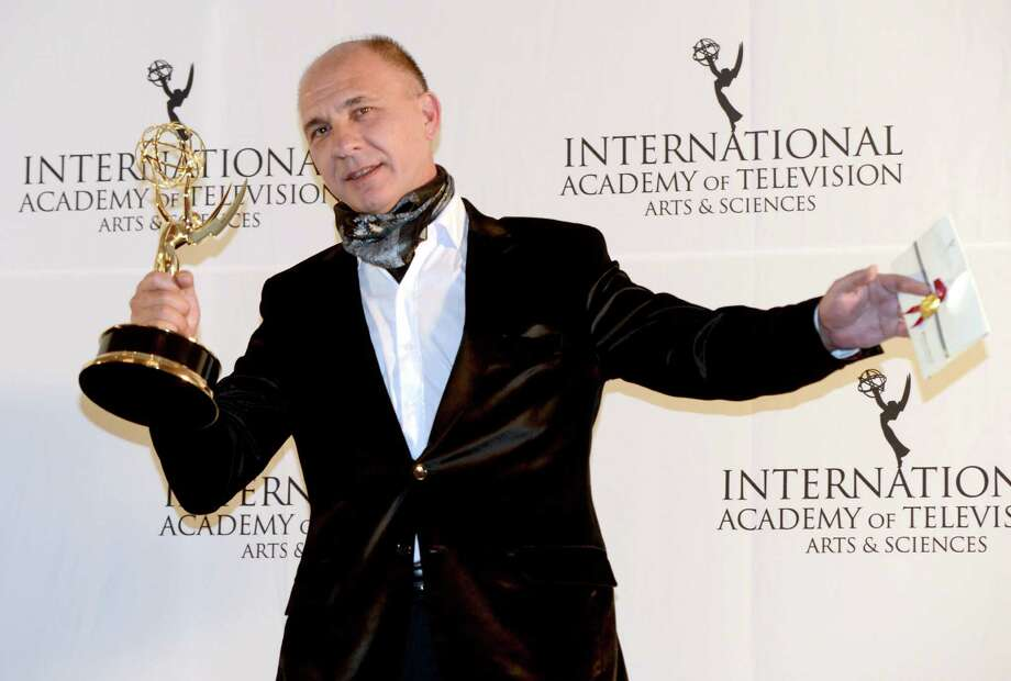 "Dario Grandinetti of Argentina after winning the Best Performance by an Actor award for ""Television X La Inclusion - Suelo Argentino"" at the 40th International Emmy Awards, Monday, Nov. 19, 2012 in New York. Photo: Henny Ray Abrams, AP / FR151332 AP"