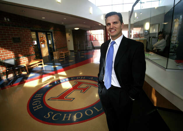John Barile, principal of Joseph A. Foran High School in Milford, stands in the school's addition that was constructed during his tenure. Barile is leaving to become the new superintendent of schools in Bethany. Photo: Brian A. Pounds / Connecticut Post