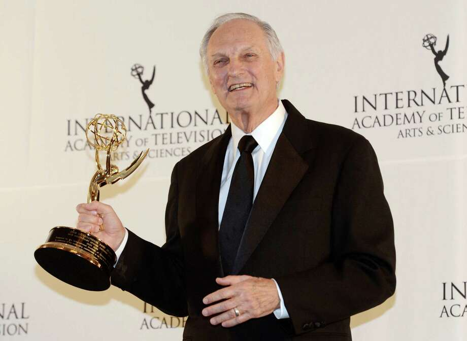 Alan Alda poses after winning a Special Founders Award at the 40th International Emmy Awards,  Monday, Nov. 19, 2012 in New York. Photo: Henny Ray Abrams, AP / FR151332 AP