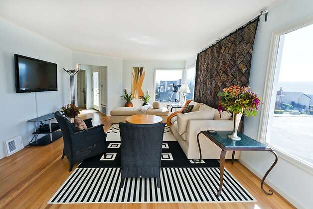 Another view of the living room in the 2,000-square-foot home. Photo: Olga Soboleva