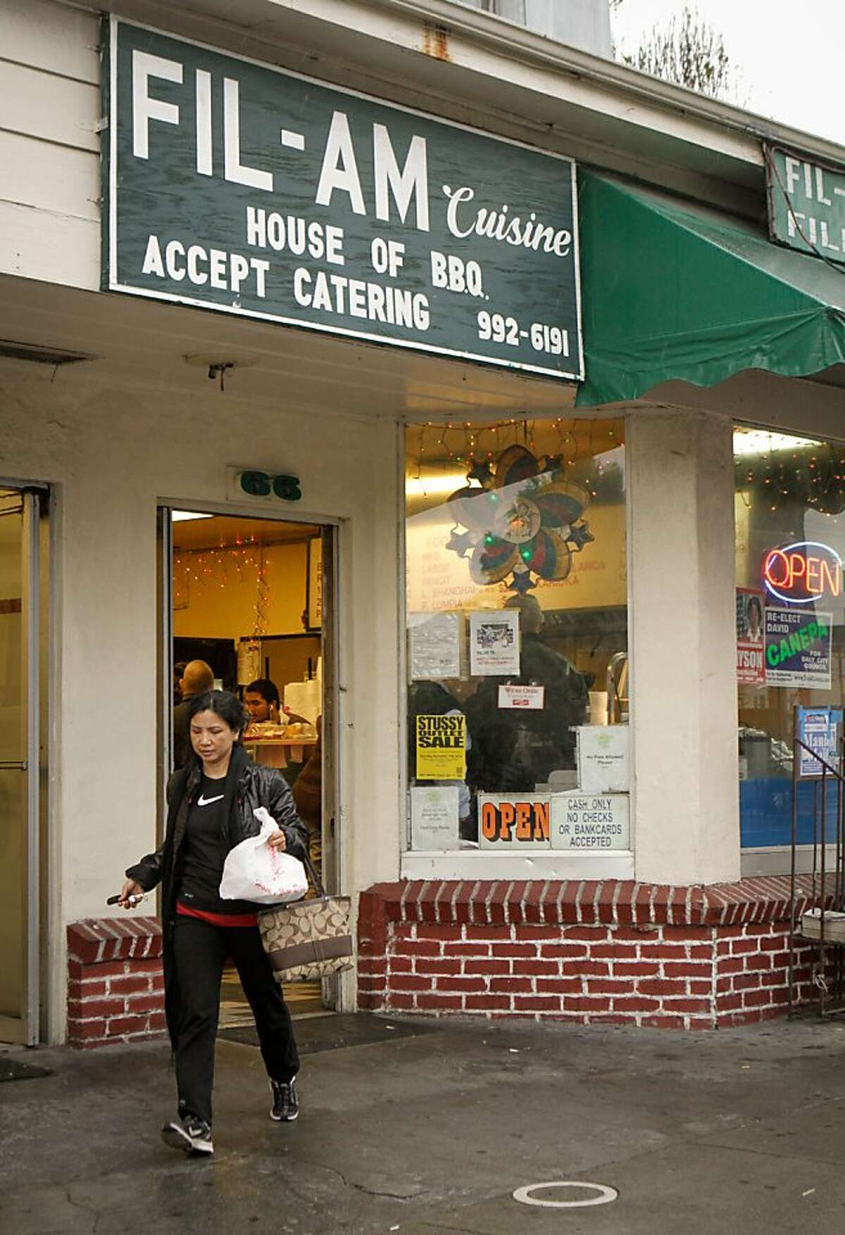 The exterior of Fil-Am Cuisine in Daly City, Calif., is seen on Friday, November 16th, 2012.