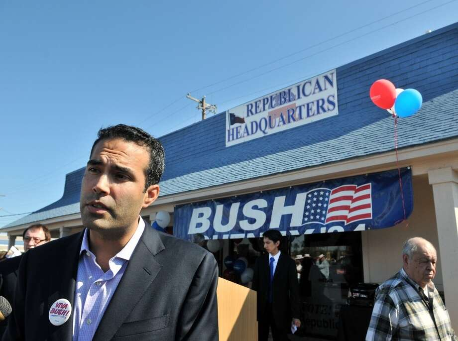 George P. Bush, nephew of former President George W. Bush, visits the Rio Grande Valley during a small political rally at the Republican Party Headquarters in Harlingen, Texas, Monday, Oct. 29, 2012.