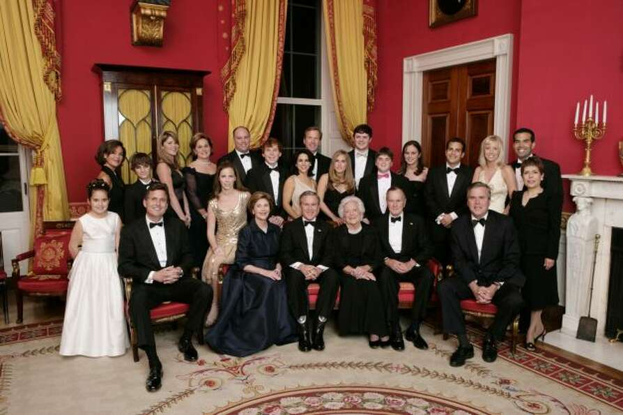 Bush and his famous family at the White House in 2005.