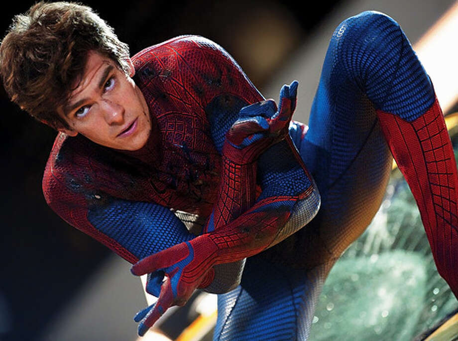 "Sticking with super heroes, here's latest ""Spider-Man"" Andrew Garfield."