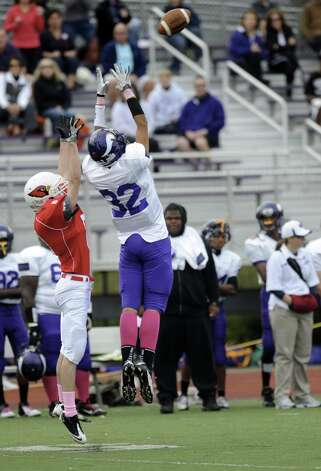 Saturday's football game at Westhill High School on October 27, 2012. Photo: Lindsay Niegelberg / Stamford Advocate