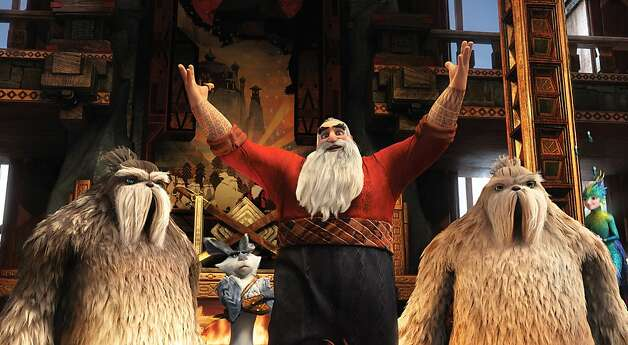 "Santa, voiced by Alec Baldwin, and legends of childhood take action in ""Rise of the Guardians."" Photo: Photo Credit: Courtesy Of DreamW, Associated Press"