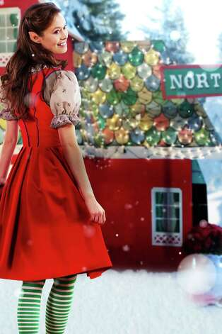 "Summer Glau plays elf Christine, who loves Christmas but longs to see more of life beyond the North Pole, in the television movie ""Help for the Holidays."" Photo: Hallmark Channel"