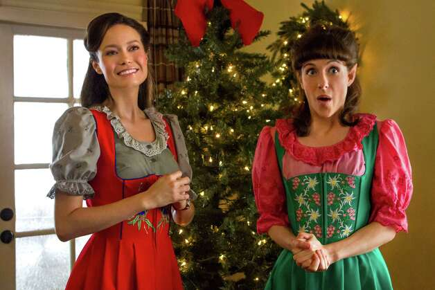"Summer Glau and Jessie Wiener play Christmas elves who spend their days making toys for Santa in ""Help for the Holidays."" Photo: CARIN_BAER / @2010"