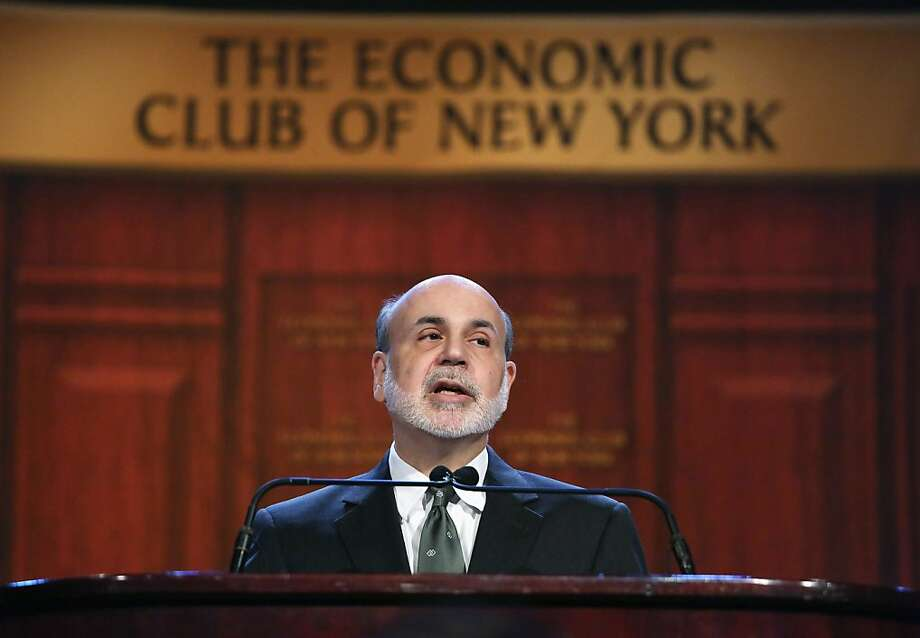 "Federal Reserve Chairman Ben Bernanke urges Congress to act to avoid the so-called ""fiscal cliff"". Photo: John Moore, Getty Images"