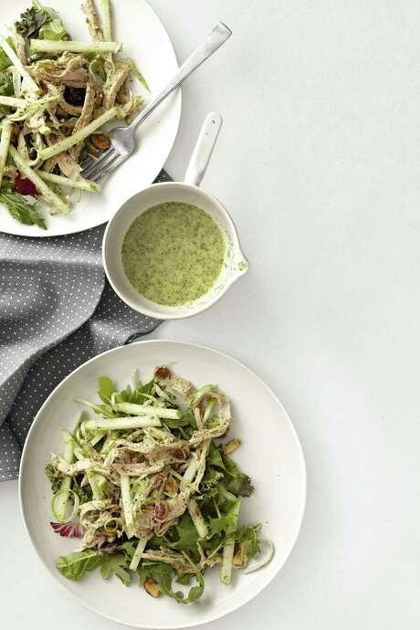 Country Living recipe for Turkey and Green-Apple Salad with Mint Dressing. Photo: Anna Williams