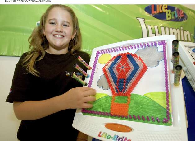 10-YEAR-OLD ALLISON BEATTY SHINES AS SHE IS NAMED LITE-BRITE ILLUMIN-ARTIST OF THE YEAR. Five Finalists Exhibited Their LITE-BRITE Creations at the Finals Held at a New York City Art Gallery (Photo: Business Wire) / HASBRO