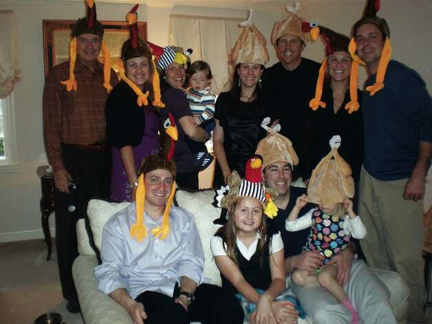"Everyone say ""Gobble Gobble"" for the camera."