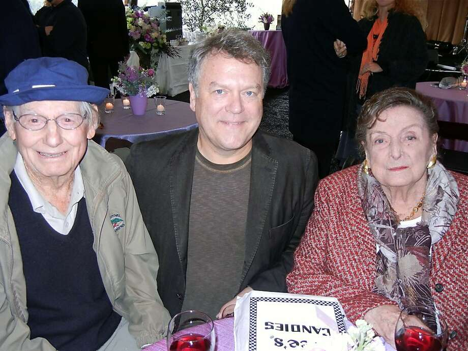 Artist Wayne Thiebaud (left), book publisher Nion McEvoy and his mom, Nan Tucker McEvoy. Photo: Catherine Bigelow, Special To The Chronicle