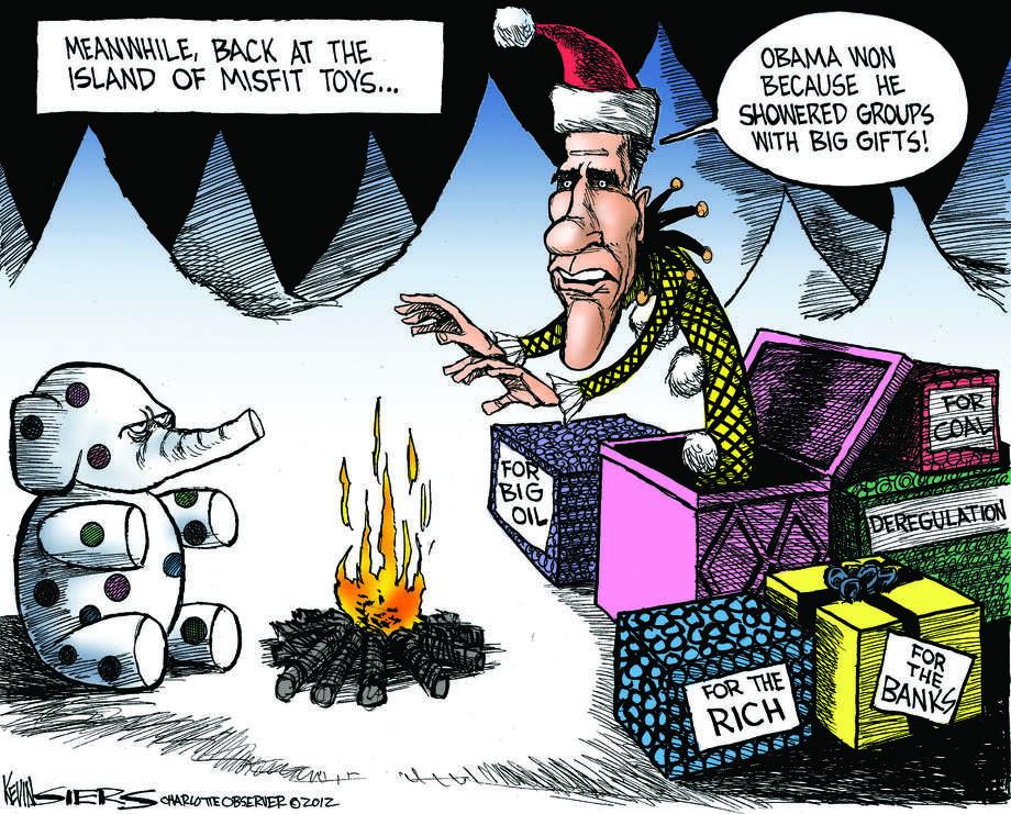 Editorial cartoon, misfit toys