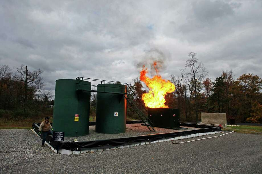 A fire drill at a Pennsylvania College of Technology training site in Williamsport, Pa. Williamsport and its surrounding area have made efforts to keep the benefits of the Marcellus Shale boom from evaporating. Photo: NIKO KALLIANIOTIS, STR / NYTNS
