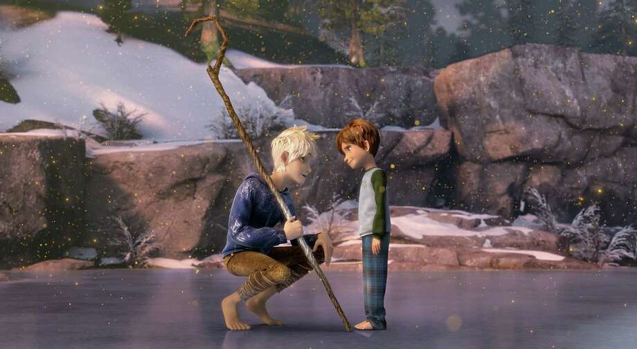 (Left to right)  Jack Frost (Chris Pine) convinces Jamie (Dakota Goya) to believe in the Guardians in DreamWorks Animation's RISE OF THE GUARDIANS to be released by Paramount Pictures. RG-013 Photo: Photo Credit: Courtesy Of DreamW / RISE OF THE GUARDIANS © 2012 DreamWorks Animation LLC.  All Rights Reserved.