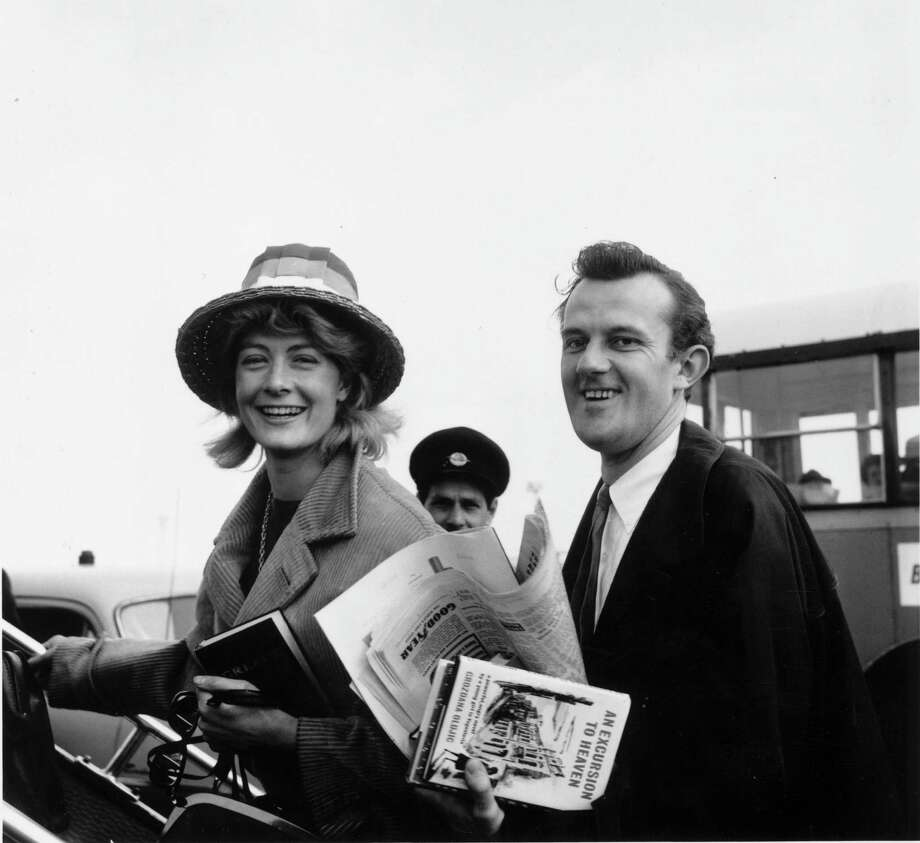 Vanessa Redgrave and Tony Richardson leave for their honeymoon in Greece in April, 1962. Richardson died from AIDS in 1991. Photo: Express, Getty Images / Hulton Archive