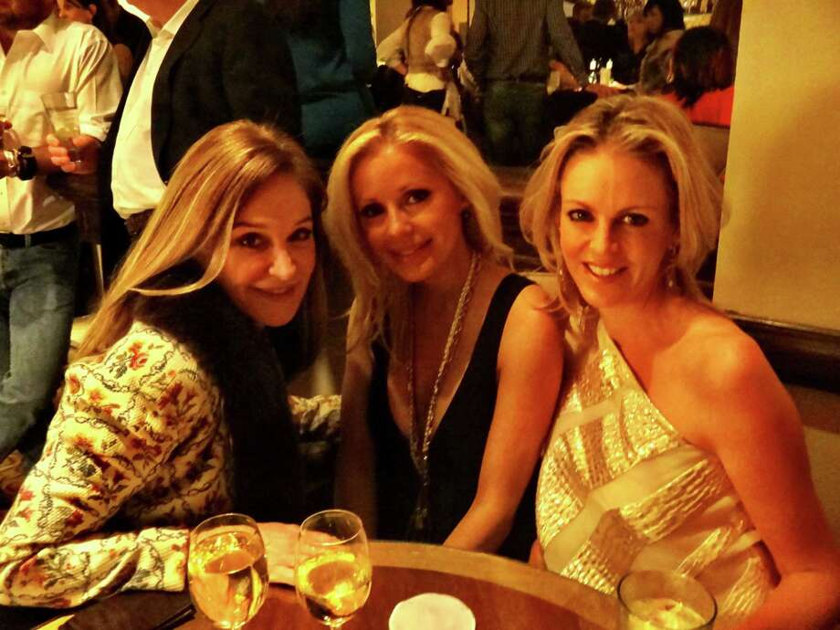 Becca Cason Thrash, left, Joyce Echols and Elizabeth Petersen at F1 Grand Prix Party. November 17, 2012. Credit: Lindsey Love Photo: Lindsey Love