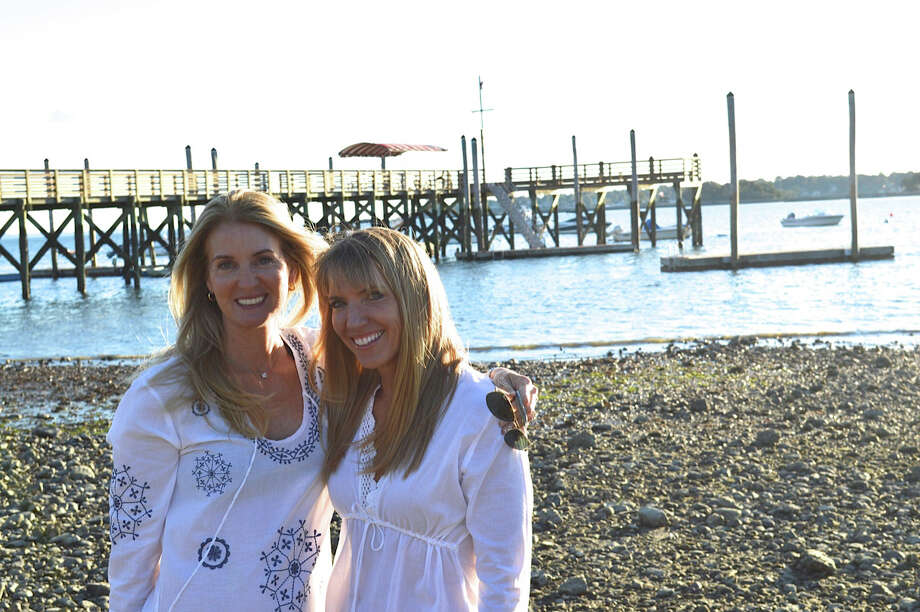 Tara Vessels and Michelle Mauboussin modeling their Tara Michelle cover-ups. Photo: Contributed